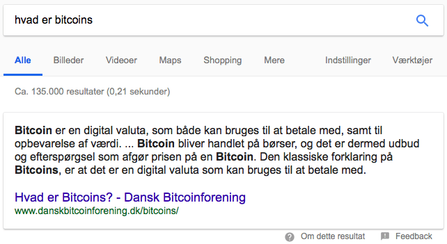 Hvad er bitcoins information search intent